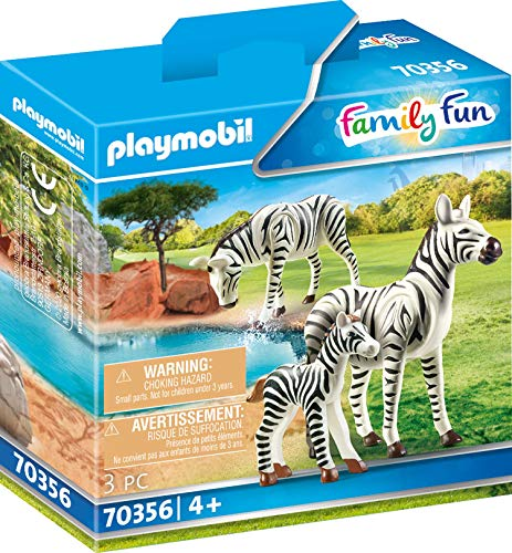 Playmobil Zebras with Foal Colourful  14.2 x 4.1 x 14.2 cm