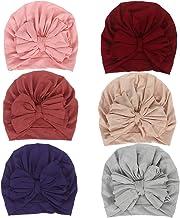 Mookiraer Newborn Baby Cotton Cloth Turban Toddler Rabbit Hospital Hat Ear Hat Kids Set Head Cap