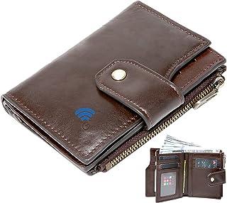 $25 » Sponsored Ad - Smart Wallet Cowhide Leather Alarm GPS Record Zipper Wallet Anti Lost Bluetooth Men Wallets (Coffee)