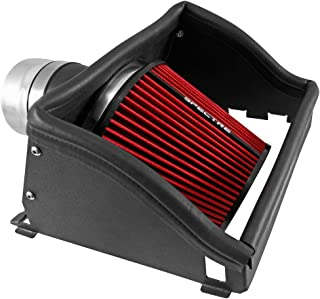 Spectre Performance Air Intake Kit with Washable Air Filter: 2015-2019 Ford (F150, F150 Raptor) 2.7/3.5L V6, Red Oiled Filter with Polished Aluminum Tube, SPE-9034