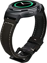 VIGOSS Compatible Gear S2 Band, Premium Vintage Crazy Horse Genuine Leather S2 Bands with Black Stainless Steel Buckle Strap Replacement Bracelet for Samsung Gear S2 Smartwatch SM-R720/R730 Coffee