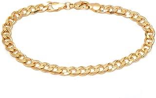 Barzel 18K Gold Plated Curb Link Anklet