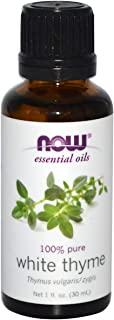 NOW Essential Oils, White Thyme Oil, Empowering Aromatherapy Scent, Steam Distilled, 100% Pure, Vegan, 1-Ounce