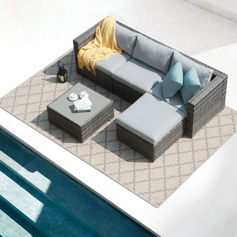 Patiorama Denver Mall 5 Free shipping anywhere in the nation Piece Outdoor Furniture Sectional Patio Set