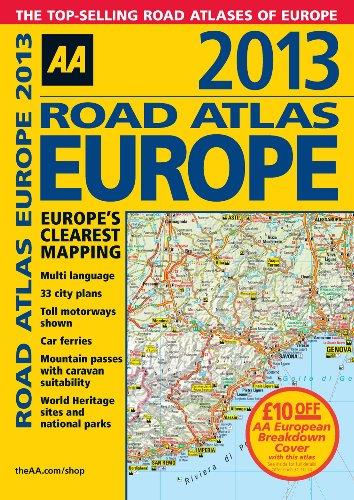 AA Road Atlas Europe 2013 [Idioma Inglés]