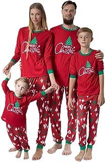 Pijamas De Navidad Familia 2 Piezas Mujer Hombre Niños Camisetas De Manga Larga Sudadera Chándal Familia Ropa de Dormir Conjunto