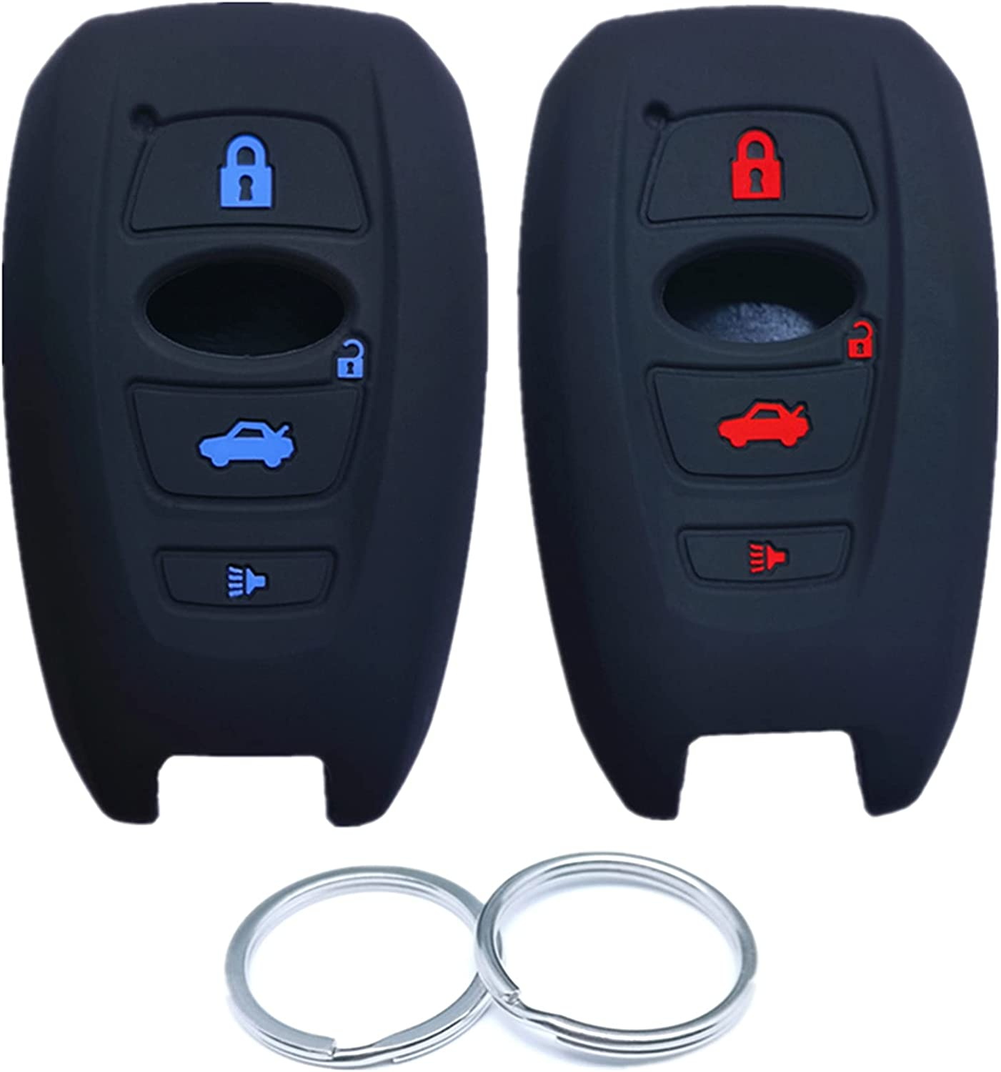 RUNZUIE 2Pcs 4 Buttons Silicone Smart Fob Surprise price Remote Case Key Cover Ranking TOP2