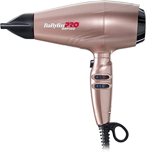 BaByliss Pro - Secador rapido, 2200 W, color oro rosa: Amazon ...