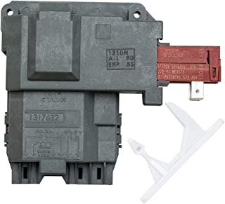 1317632 131763202 131763256 Washer Door Lock Latch Switch Assembly & 1317633 Door Strike for Electrolux Frigidaire White-Westinghouse Crosley GE Gibson Front Load Washer. Replace 131763256 & 131763310