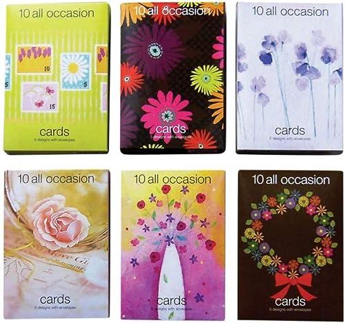la red entera más baja Valor tarjetas de felicitación todos los ocasión (12cajas (12cajas (12cajas de 10tarjetas)  comprar barato