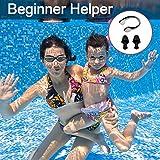 Schwimmbrille , otumixx Schwimmbrillen für Erwachsene Antibeschlag UV Schutz Verstellbar Gurt Komfort fit, Hrstöpsel & Nasenklammern mitgeliefert, Schwimmbrille für Herren Damen und Kinder - Schwarz - 7