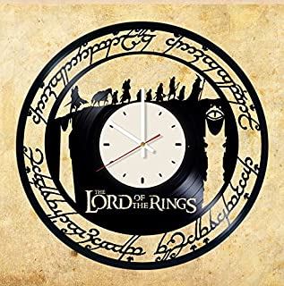 Lord of Rings Gandalf vinyl wall clock - handmade unique home bedroom living kids room nursery wall decor great gifts idea for birthday, wedding, anniversary - customize your clock (White/White)