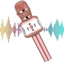 Karaoke Microphone, Microphone for Kids Wireless Bluetooth Portable Handheld Karaoke Mic Speaker Machine Christmas Birthda...