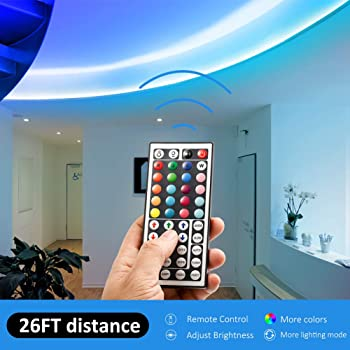 DAYBETTER Led Strip Lights 32.8ft 10m with 44 Keys IR Remote and 12V Power Supply Flexible Color Changing 5050 RGB 30...