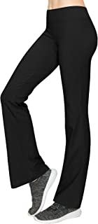 Lock and Love Women's Comfy Cotton Spandex Stretchy Slim Fit Bootleg Ankel Lenth Capri Casual Workout Yoga Leggings