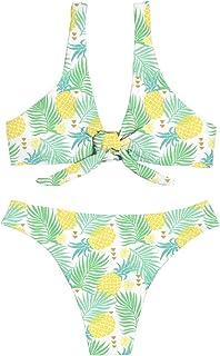 強化シャッター弾丸[Jbcoloro]ビキニ 夏 タンキニ レディース 学生 水着 運動 かわいい パイナップル 人気