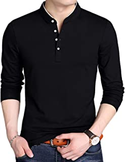 YTD Mens Summer Slim Fit Pure Color Short Sleeve Polo...