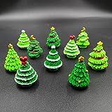 EMiEN 10 stück weihnachtsbäume miniatur ornament kits set für diy fee garten puppenhaus...
