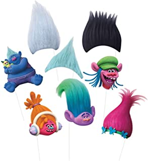 PARTY Trolls Photo Props ,Tattoos & Stickers Pack