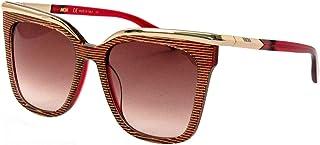 نظارات شمسية نسائية من ام سي ام، مربعة، ألماس وأزرار