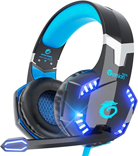 VersionTECH. G2000 Stereo Gaming Headset for PC, Xbox One, PS4, Nintendo Switch, Wired Gaming Chat Headphones with 3D...