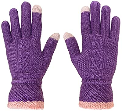 KMystic Womens Touch Winter Texting Soft Gloves