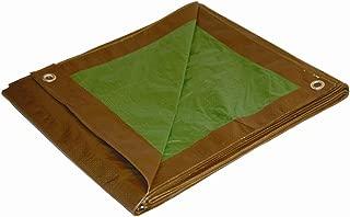 50x100 Multi-Purpose Brown/Green Medium Duty DRY TOP Poly Tarp (50'x100')