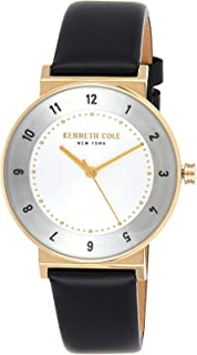 Kenneth Cole Men's SILVER Dial Genuine Leather Band Watch - KC50076002