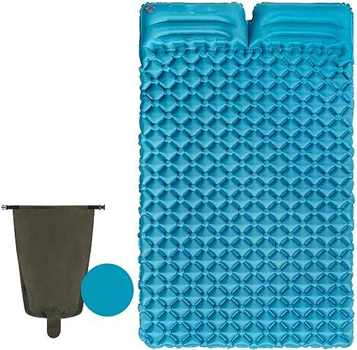 Qys Coussin Gonflable Double Oreiller Ultra léger et résistant à l'humidité Tapis de Camping pour Tente extérieure