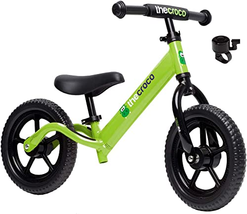 """TheCroco Balance Bike Premium Model 12"""" Lightweight High-Grade Aluminum to Make Riding Easy for Kids Ages 2, 3, 4 Yea..."""
