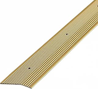 M-D Building Products 43755 2 96-Inch Carpet Trim Extra Wide Fluted, Satin Brass