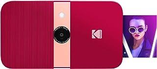 KODAK Smile Cámara digital de impresión instantánea – Cámara de 10MP que abre al deslizarse c/impresora 2x3 ZINK Pantalla Enfoque fijo Flash automático y edición de fotos – Rojo