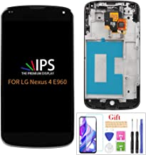 for LG Google Nexus 4 e960 LCD Touch Digitizer Screen Assembly with Housing Frame Replacement Part