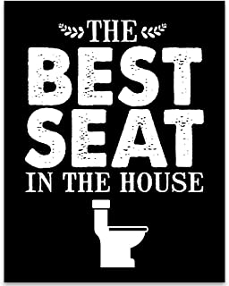 Best Seat in the House - 11x14 Unframed Typography Art Print - Great Bathroom Decor Under $15