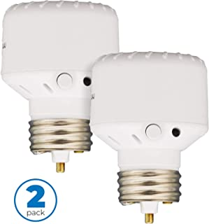 Westek Light Sensor Socket Control for Outdoor Light Bulbs and Indoor Lighting, 2 Pack – Automatic Dusk to Dawn Settings, Ideal for Porch Light Bulbs and Floodlights – SLC6CBC-4