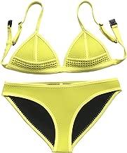 yellow neoprene crochet bikini