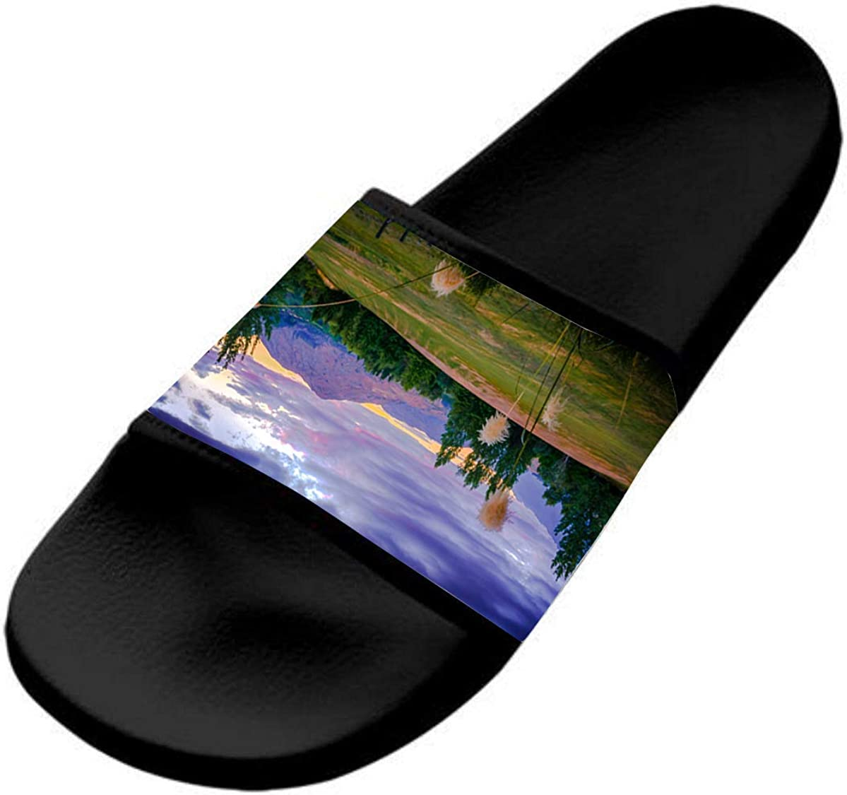 Mountain Scenery Casual and Stylish Sports Slippers for Kids are Flat and Comfortable