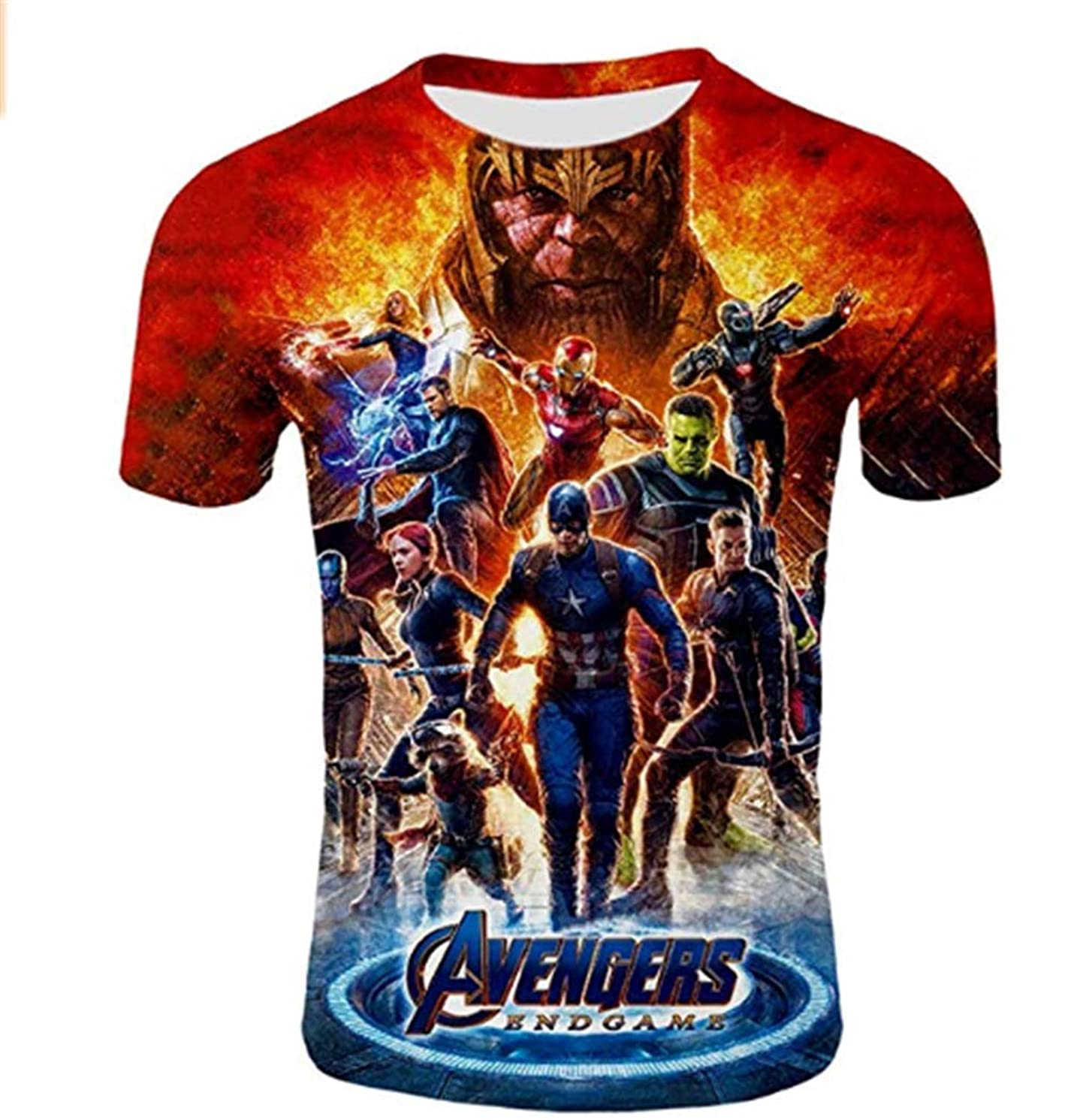 3D Avengers Endgame Shirt Sports Suit Fitness T Shirt Casual Short Sleeves Shirts for Mens and Youth