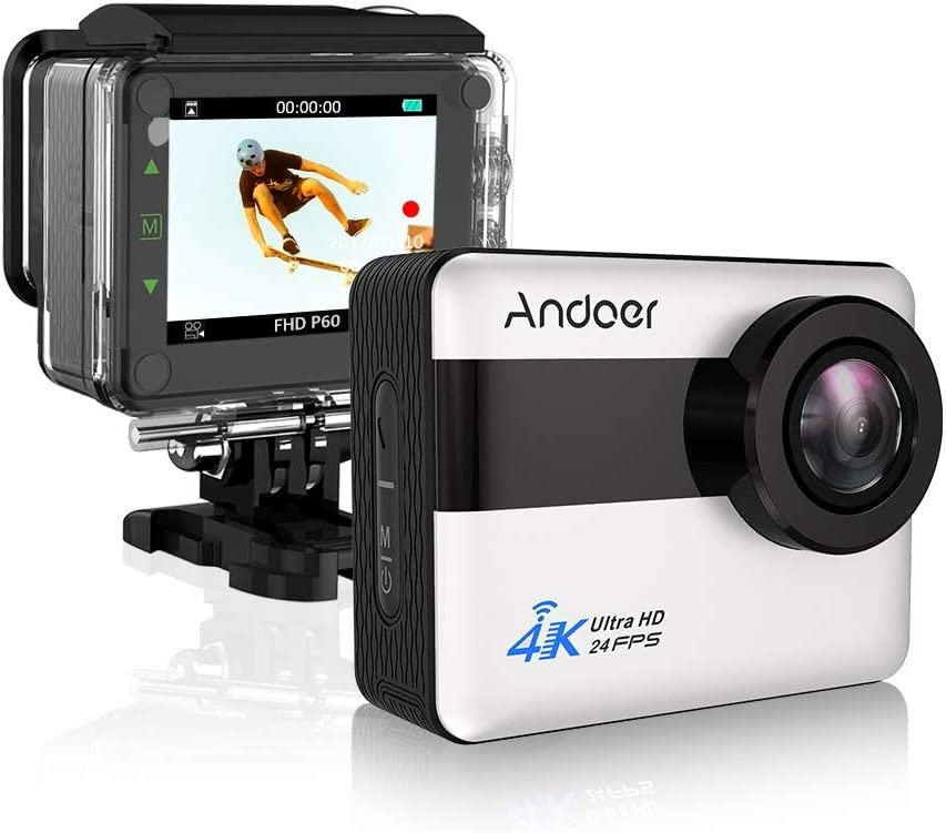 Andoer AN1 4K Regular store WiFi Sports Action Excellent Camera 1080P 20MP 5X Full Zo HD