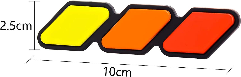 Drogo Tri-color Grille Decals Car Sticker Emblems 3D Badge Replacement for Tacoma 4Runner Tundra Sequoia Rav4 Highlander