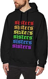 Rainbow Ja-mes Char-les Sis-ters Mens Plain Pullover Hoodie Long Sleeve Hooded Sweatshirt Fleece Sweatshirt