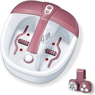 Beurer Bain Pieds Relaxant Balneotherapie avec Accessoires Pedicure Massage Vibrant Bulles Points lumiere Infrarouge