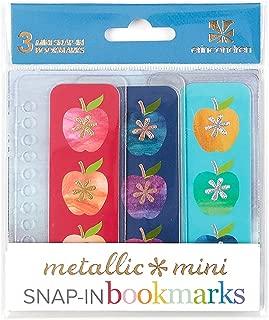 Erin Condren Designer Accessories Snap - in Mini Bookmarks Trio for Erin Condren Planners - Apples. Compatible with Spiral Notebooks, Planners, or Agendas