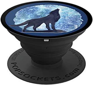 Winter Wolf Howling at the frosty Moon cute Gift PopSockets Grip and Stand for Phones and Tablets
