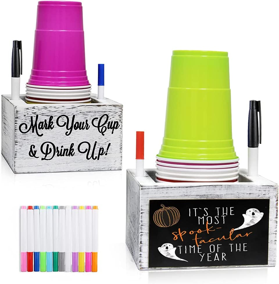Disposable Cup Dispenser Mark Your Drink Double Inexpensive Solo Tulsa Mall Up and