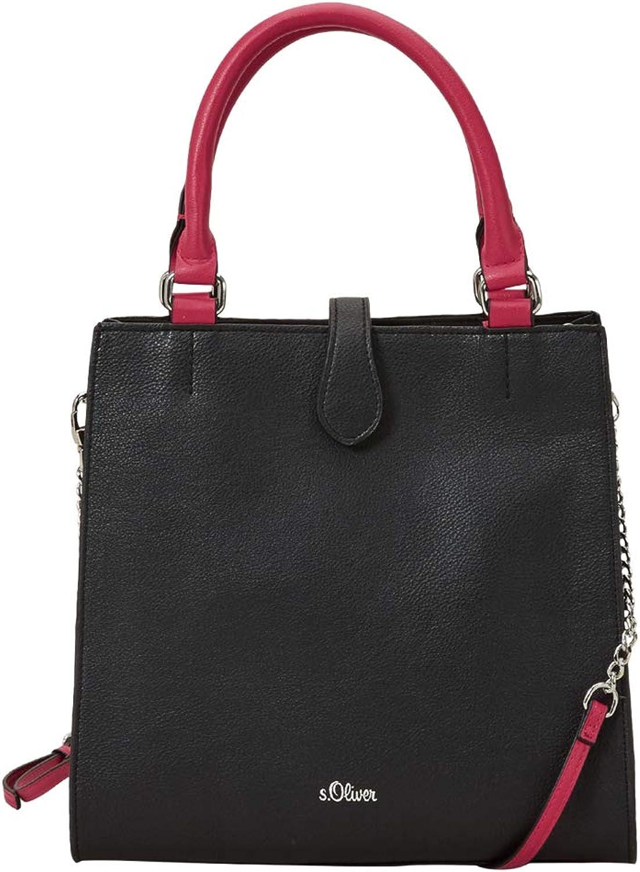79d42dbaa5b83 S.Oliver rot LABEL Damen City Bag mit Kontrast-Details schwarz 1 1 1  B07NDVF67P Günstiger 565439