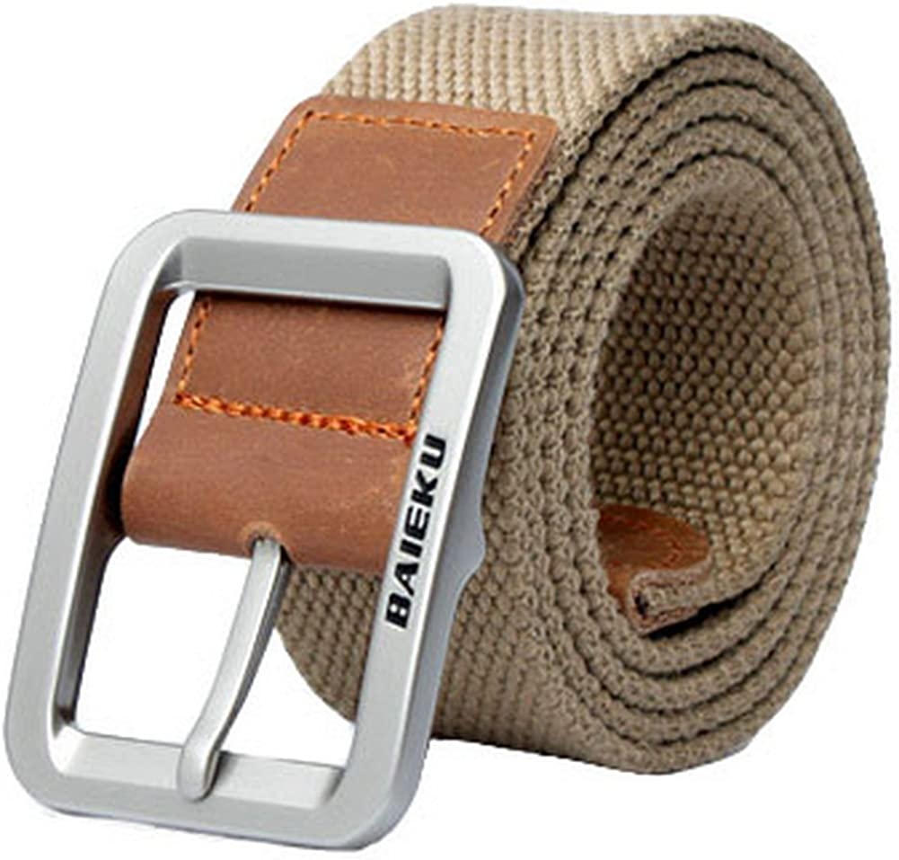 All items free shipping Men's Ranking TOP17 Fashion Casual Belt Buckle-Khaki Canvas