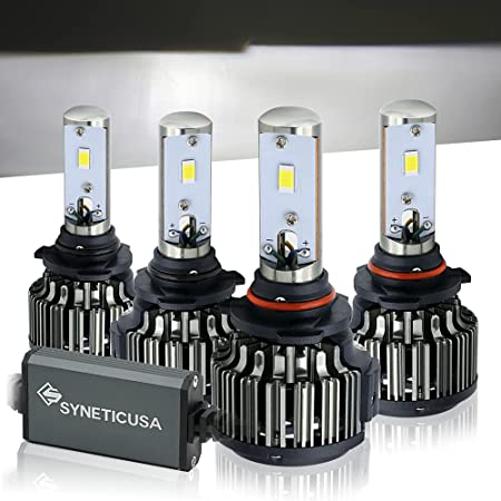 9005+9006 LED Headlight 110W 22000LM Hi-Lo Beam Combo Kit 6000K HID Lamp Power