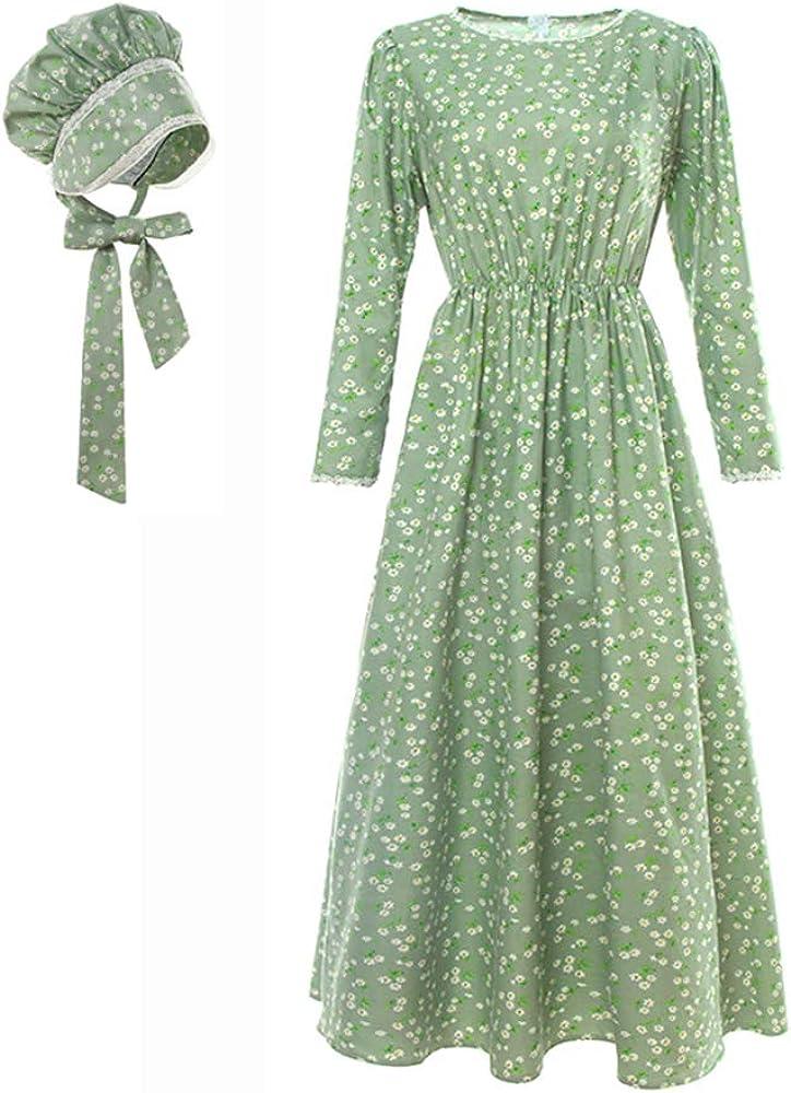NSPSTT Columbus Mall Direct sale of manufacturer Women American Pioneer Colonial Costume Girls Dress Prair