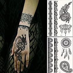 temporary tattoos in black